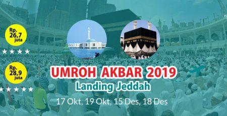 Umroh Akbar Landing Jeddah Oktober